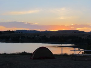 Camping in Black Hills.